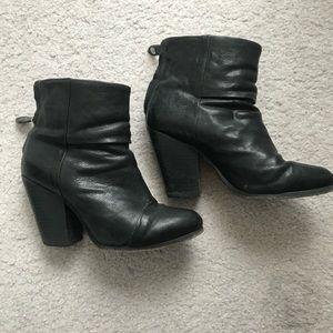 "Rag & Bone black leather ""Newbury"" boots"